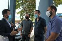 Affonso Cândido e Marcelo Lemos acompanham  senador Marcos Rogério em unidades de saúde