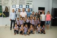 Alunos da CMEI Nelson Dias visitam Câmara de Ji-Paraná