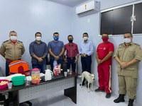 Os vereadores Joziel de Brito (MDB) e Welinton/Negão (MDB) visitam Corpo de Bombeiros de Ji-Paraná
