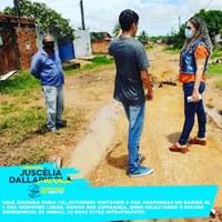 Vereadora Juscelia Dallapicola (PSDB) solicita do Executivo recuperação de bairros e de pontes na área rural