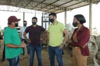 Vereadores Brunno Carvalho (SD), Nim Barroso (DEM) e Vera Márcia (PT) visitam o aterro sanitário de Ji-Paraná