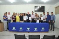 "Vereadores participam de solenidade para repasses de recursos do ""Declare seu Amor"""