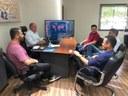 Vereadores se reúnem com prefeito Marcito Pinto para  se informar de medidas para conter os riscos do Covid-19